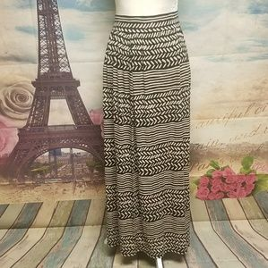 LOFT long tribal maxi skirt